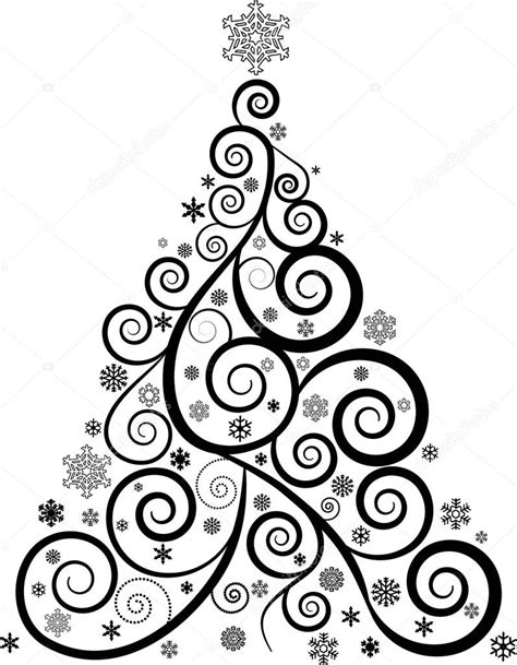 Kleurplaat Sierlijk by Sierlijke Kerstboom Stockfoto 169 Jamesstar 48853605