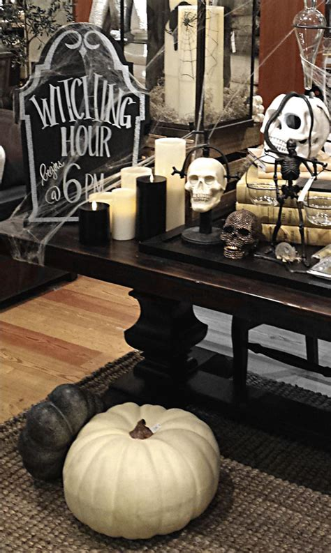 black  white halloween home decor
