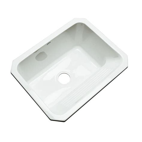 kitchen sink sts thermocast kensington undermount acrylic 25 in single 2908