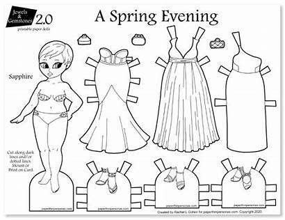 Paper Dolls Paperthinpersonas Printable Spring Gowns Evening