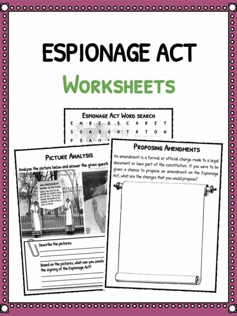 Espionage Act Of 1917 Facts, Worksheets & Summary For Kids
