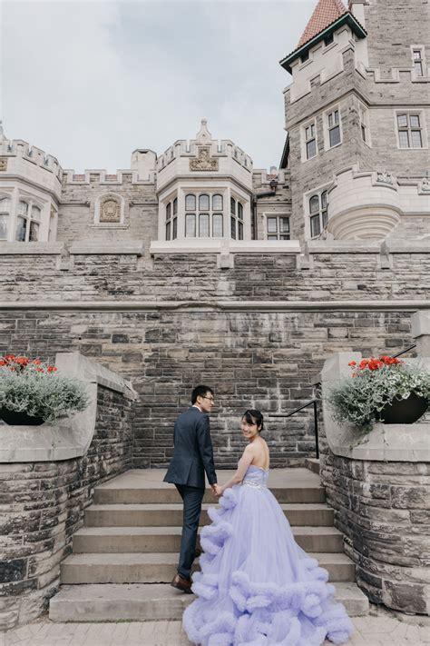 grand castle fairytale casa loma engagement  wedding