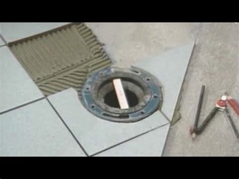 Toilet Flange Level With Tile Youtube