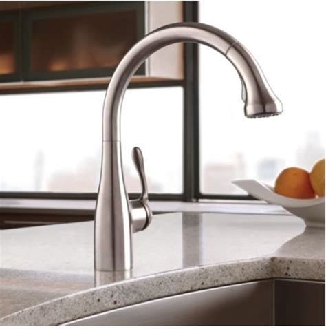 hansgrohe metro high arc pullout kitchen faucet hansgrohe kitchen faucets delta 9178dst leland single