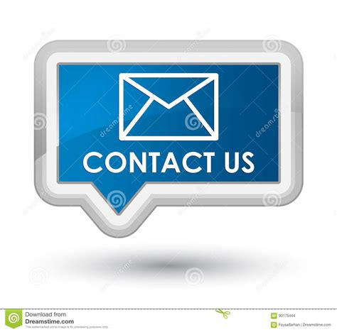 contact us at email contact us email icon prime blue banner button stock illustration image 90175444