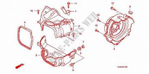 Engine Cooling Fan Cover For Honda Spacy 110 2013   Honda