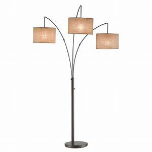 Adesso trinity 82 in antique bronze arc lamp 4238 26 for Adesso spheres arc floor lamp antique bronze finish