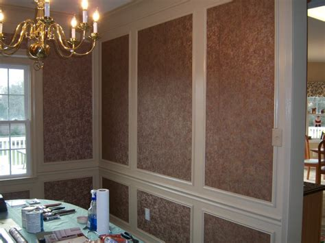 dining room design accents wallpaper  shadow boxes