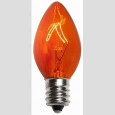 C7 Christmas Light Bulb  C7 Amber  Orange Christmas