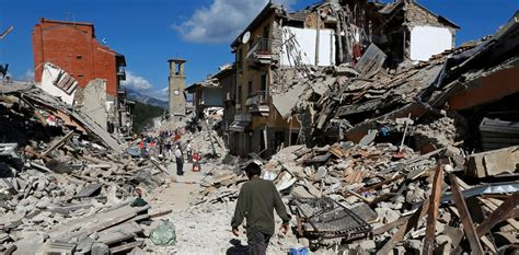 Italy Earthquake Damage