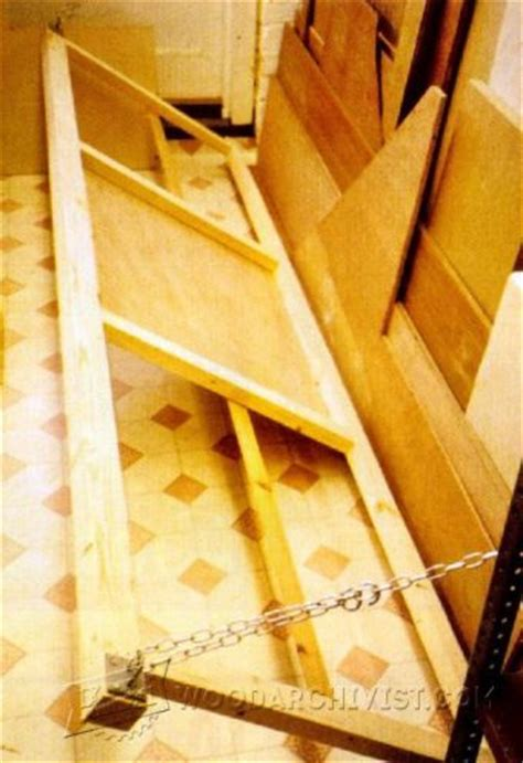 pivoting plywood cart plans woodarchivist