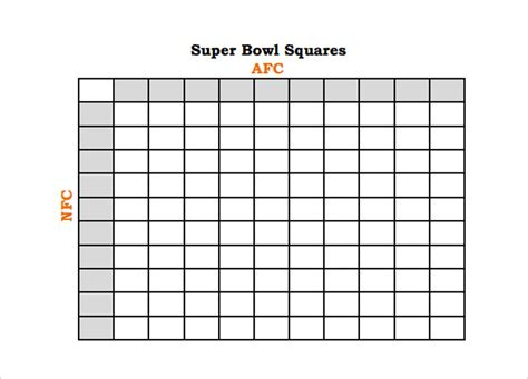 bowl pool template 33 printable football square templates free excel word formats
