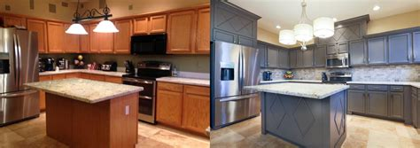 Cabinet Resurfacing by Cabinet Refinishing Before After Renovation Ideas