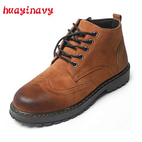 Huayi Navy Casual Men Shoes Fashion Lace Martin
