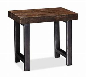 griffin reclaimed wood side table pottery barn With griffin reclaimed wood coffee table