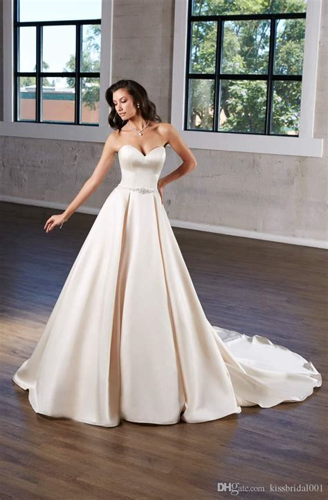 discount simple wedding dresses strapless sweetheart