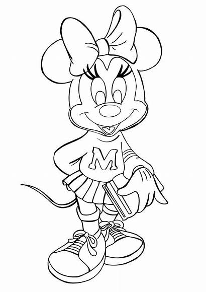 Coloring Mouse Pages Minnie