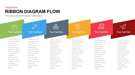 Proces Flow Diagram In Powerpoint by Ribbon Diagram Flow Powerpoint Keynote Template Slidebazaar