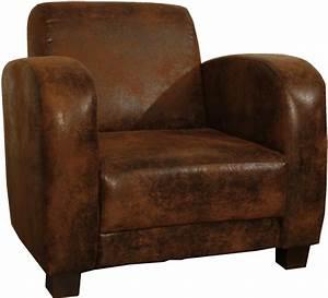 Fauteuil Crapaud Cuir : fauteuil club 1930 aspect vieux cuir 3190 ~ Teatrodelosmanantiales.com Idées de Décoration