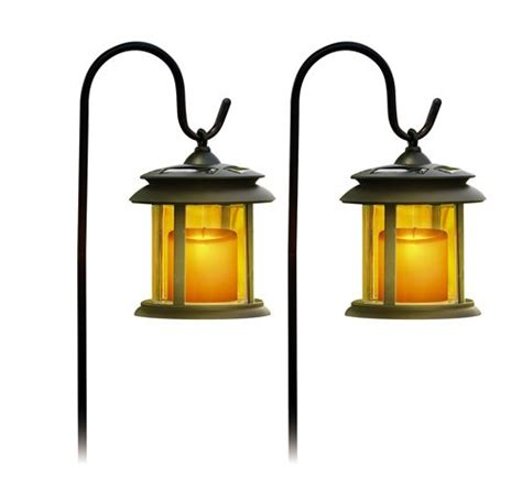 sale flicker candle solar lights pair landscape lighting