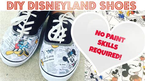 Diy No Paint Disney Shoes Under !