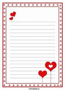 Love letter paper template | Valentine's Day | Pinterest ...