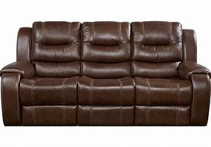 veneto brown leather reclining sofa leather sofas brown With brown leather sofa