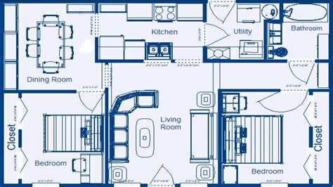 house plans with dimensions 2 bedroom house floor plans with dimensions 2 bedroom