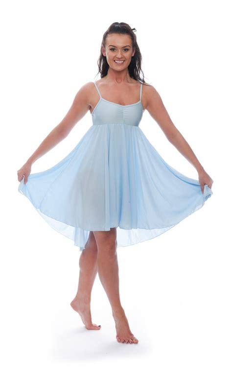 light blue lyrical costume ladies girls pale blue lyrical dress contemporary ballet