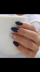 Blue Acrylic Nails Almond Shape