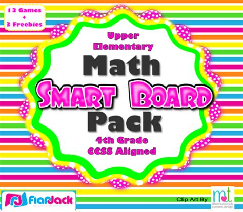 Flapjack Educational Resources Fourth Grade Math Smart Board Games & Freebies (ccss Aligned