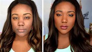 HOW TO: Makeup Tips For Black Women Everyday Makeup Tutorial Routine for Dark Skin YouTube