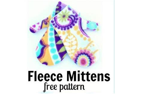 pattern easy fleece mittens sewing