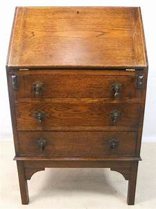 Small Oak Writing Bureau Desk 150430