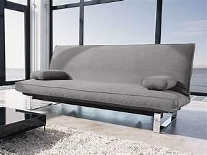Dauerschlafsofa Mit Matratze : stoff schlafsofa in grau ausklappbar schlafcouch astoria ~ Frokenaadalensverden.com Haus und Dekorationen