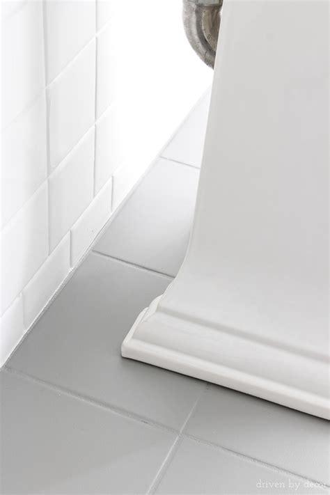 How I Painted Our Bathroom's Ceramic Tile Floors A Simple