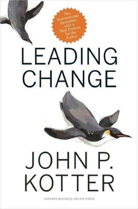 Kotter Change Management Book by Book Leading Change