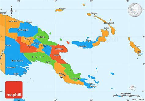 political simple map  papua  guinea