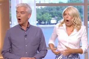 Holly Willoughby left grabbing Phillip Schofield in horror ...