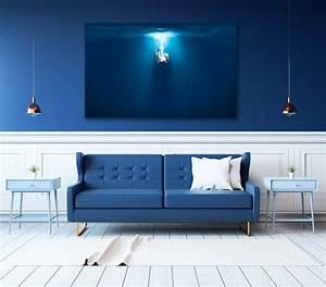 Canapé Bleu Roi : d coration murale bleu roi blog izoa ~ Teatrodelosmanantiales.com Idées de Décoration