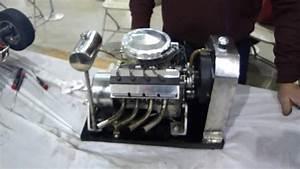 Model Hemi V8 Gas Engine Running Scale Model