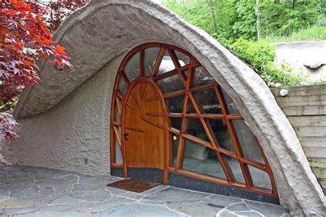 incredible mushroom pod house   smurf design swan
