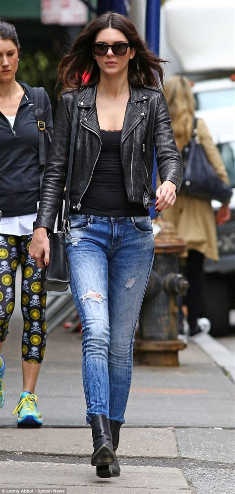 Kendall Jenner and Hailey Baldwin wear alternating leather ...