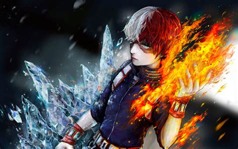 Download wallpapers Shoto Todoroki, fan art, My Hero ...