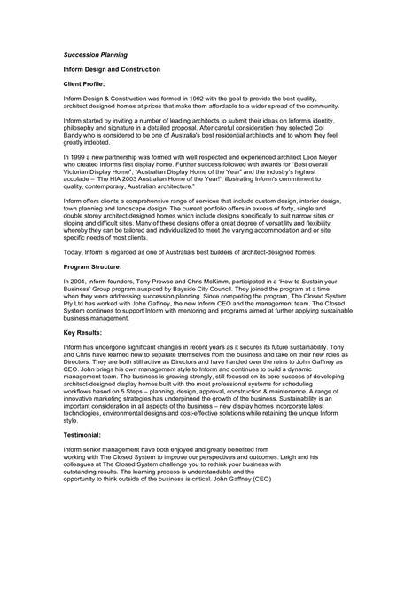 interior design client profile sample