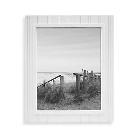 Beadboard 11inch X 14inch Wood Picture Frame In White