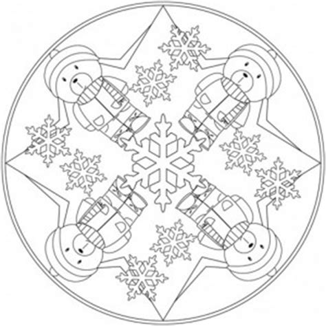 winter mandala coloring pages  kids crafts