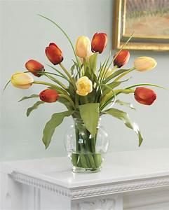 Shop Mixed Tulip Silk Flower Arrangement at Petals