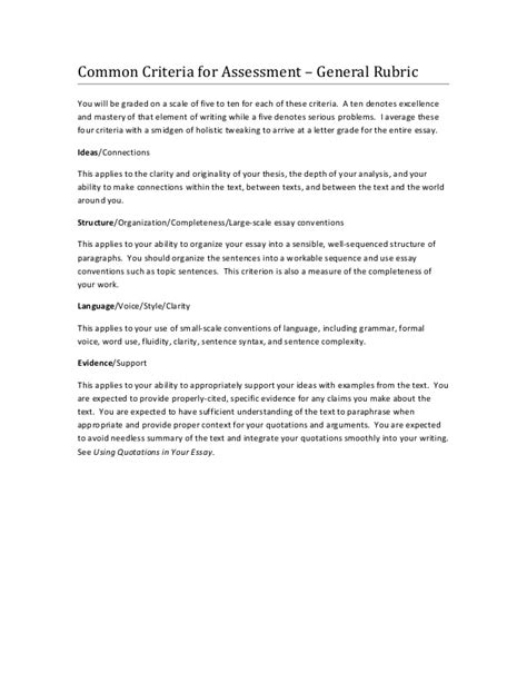 Resume Rubric Ontario by Essay Rubric Ontario Synopsis The Help By Kathryn