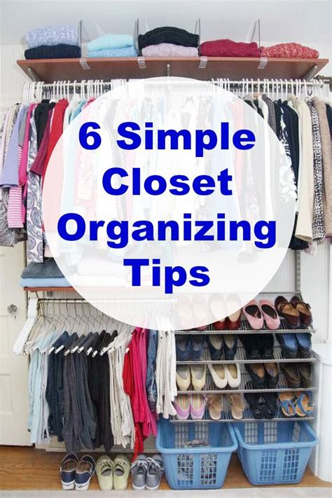 Simple Closet Organization by Organizing The Master Closet 6 Simple Organizing Tips